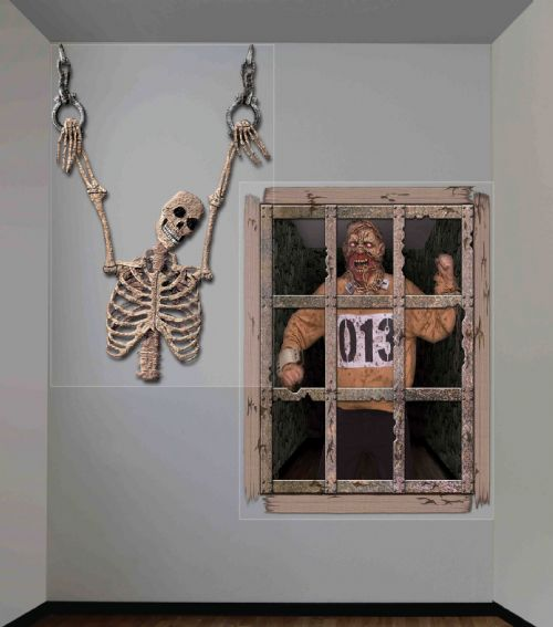 Grusome Dungeon Giant Wall Décor Chamber of Horrors Party Favour